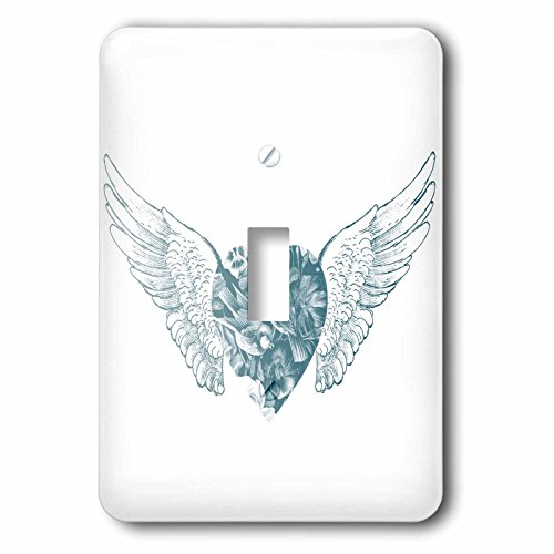 3d Rose 3dRose lsp_178839_1 Angel Wings Heart Light Switc...