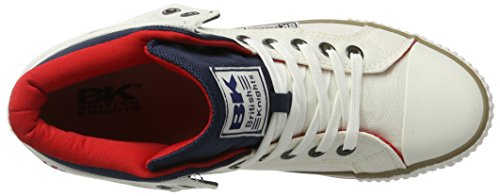 British Knights Roco, Men's Low-Top Sneakers Weiß (Off White/Navy/Red)