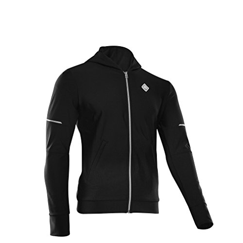 SOBIKE Mens Winter Cycling Jersey Running Long Sleeves Fleece Thermal Full Zip Hoodie Jacket (Sobike Cycling Fleece)