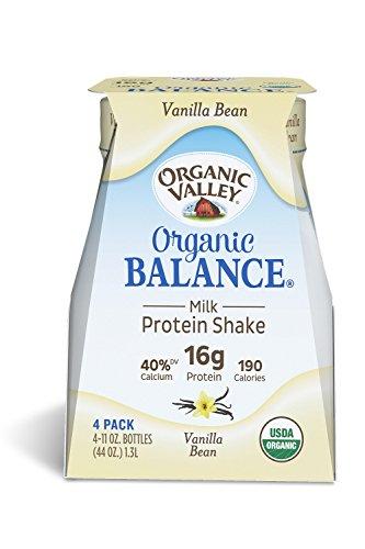 Organic Valley, Organic Balance, Organic Milk Protein Shake, Vanilla Bean, 11 Ounces (Pack of 4)