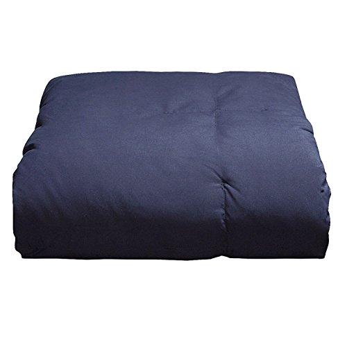 Blue Ridge Home Fashion Microfiber Down Alternative Comforter, Full/Queen, Navy