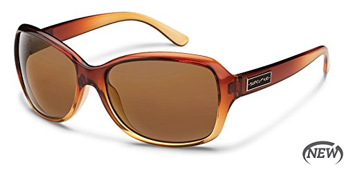 Suncloud Mosaic Polarized Sunglasses, Brown Fade Frame, Brown Lens ()