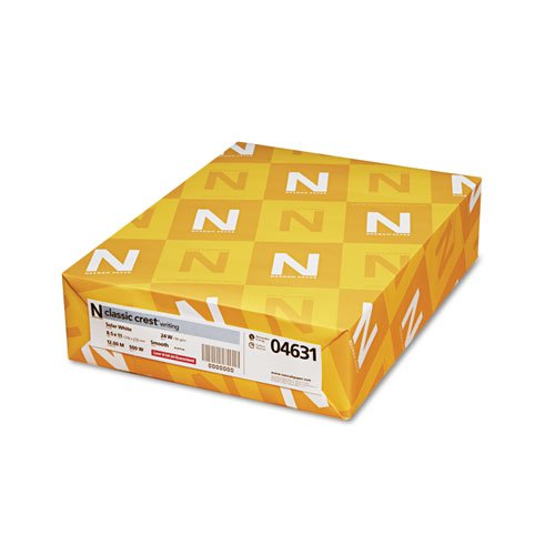 Neenah Paper Products - Neenah Paper - Classic Crest Writing Paper, 24 lbs., 8-1/2 x 11, Solar White, 500/Ream - Sold As 1 Ream - Premium watermarked papers. - Guaranteed for use in laser or inkjet printers and high-speed copiers. - Acid-free for archival by Neenah