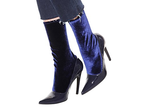 Balenciaga midcalf booties in blue Patent Leather - Model number: 444772 W0421 4100 Blue R77hI