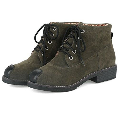 KemeKiss Up Green Lace Fashion Dark Bootie Women qArHwqR