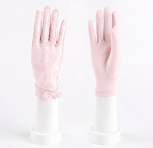 Womne's Bridal Wedding Lace Gloves Derby Tea Party Gloves Victorian Gothic for Lady (ONESIZE, Pink (no packag box)) by LAI MENG FIVE CATS (Image #3)