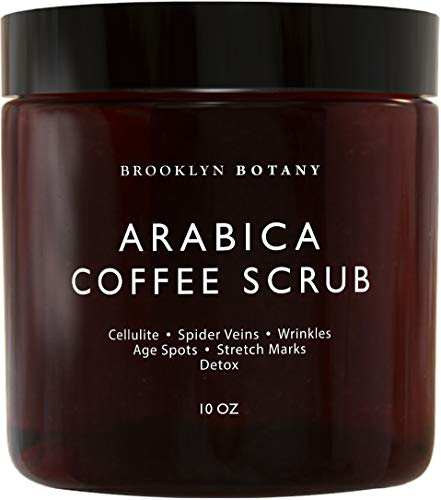 Brooklyn Botany - Arabica Coffee Scrub -100% Natural - with Coconut and Shea Butter - Best Anti Cellulite and Stretch Mark Treatment, Spider Vein Therapy for Varicose Veins & Eczema - 10 oz by Brooklyn Botany (Image #1)