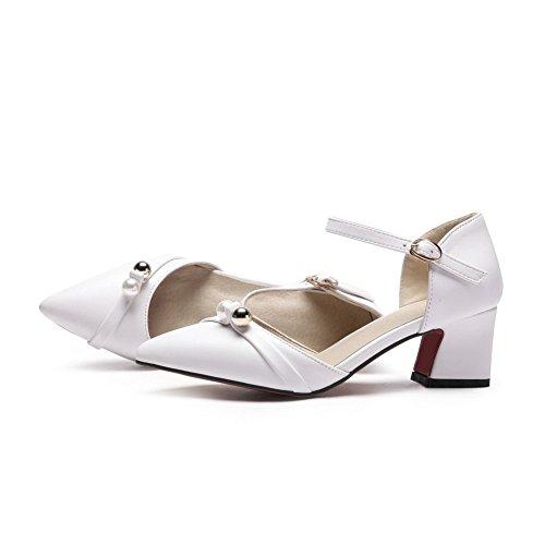 Femme Blanc 36 Inconnu MJS03624 Blanc Compensées Sandales 1TO9 5 TwRWIxqHZ