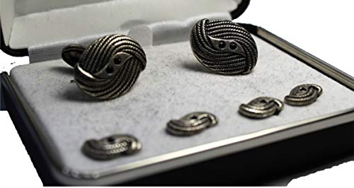 Mario Zegna Mens Cufflinks and Studs Set Classic Wedding, for sale  Delivered anywhere in USA