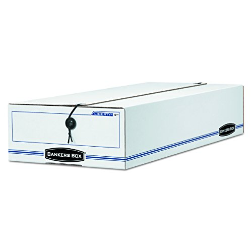 Bankers Box 00007 LIBERTY Storage Box, Check/Voucher, 9 1/2 x 23 1/4 x 4 1/4, WE/Blue (Case of 12) by Bankers Box