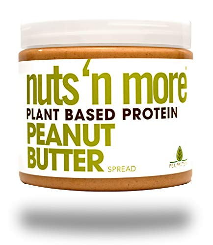 Nuts N More Plant Based Protein Peanut Butter Spread,Vegan,High Protein,Great Tasting, All Natural Sports Nutrition, 16 oz Jar