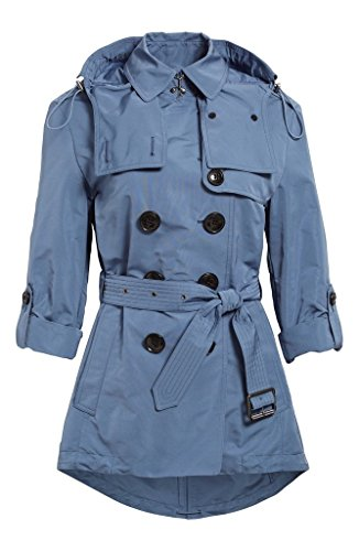 Burberry Brit KNIGHTSDALE Belted Hooded Trench Coat in Pale Lupin Blue (8)