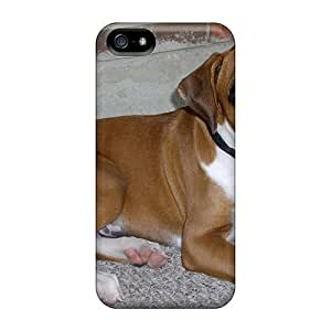 Bernardrmop Iphone 5/5s Hybrid Tpu Case Cover Silicon Bumper Sad Boxer