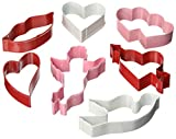 R&M International 1839 Valentine Cookie Cutters, Assorted Designs, 7-Piece Set