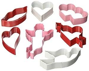 R & M Valentine 7 Piece Cookie Cutter Set