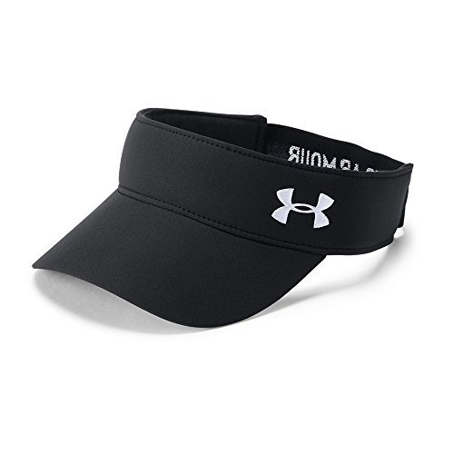 Golf Stretch Visor - Under Armour Women's Links Visor 2.0, Black (001)/White, One Size