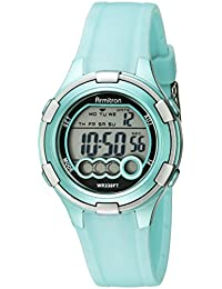 Women's 45/7053LTG Digital Light Green Resin Strap Watch