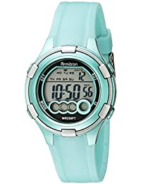 Armitron Sport Women's 45/7053LTG Digital Light Green Resin Strap Watch
