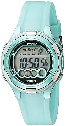 Armitron Sport Women's 45/7053LTG Digital Light Green Resin Strap Watch (Sport Watch Ladies)