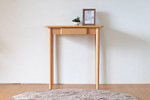 ISSEIKI デスク 木製机 ナチュラル 幅70 木目の美しいビーチ材使用 木製家具 【FL-35-1】 B00VUZ4M30