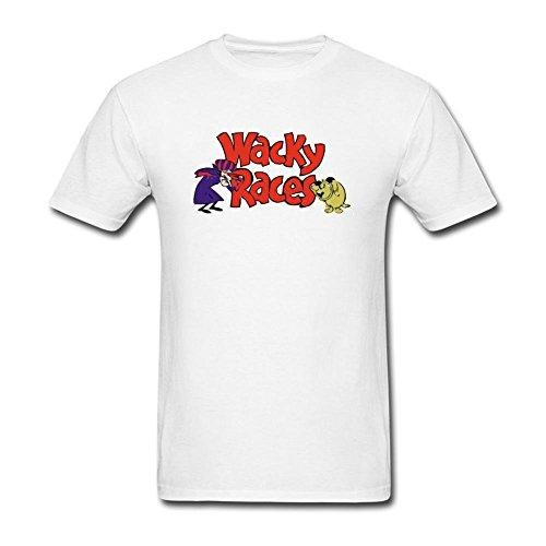 DanielRauda Men's Wacky Races Short Sleeve T Shirt White