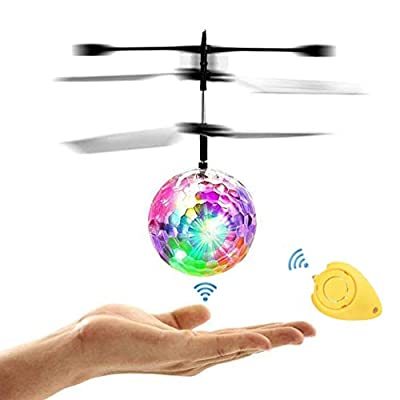Amazingbuy - RC Flying Ball, Helicopter Ball with Rainbow Shinning LED Lights for Kids, Flying Toy for Boys and Girls: Toys & Games