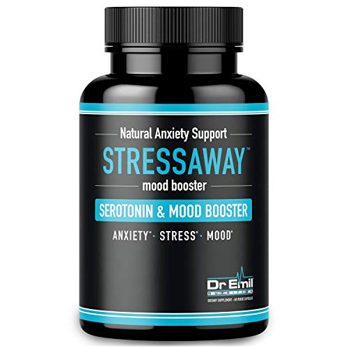 Dr. Emil - Natural Anxiety Relief Supplement - Doctor-Formulated to Support Stress Relief, Serotonin Production & Mood Boost (60 Veggie ()