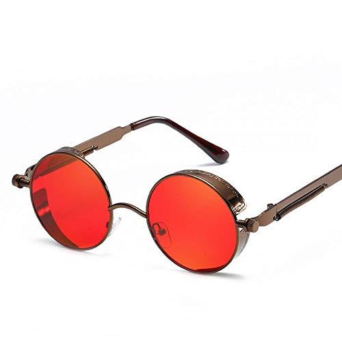 Sol con Sol de Redondo Sabarry Gafas Gafas pequeñas Vasos Mujer 3 Talla para polarisierenden única Hombre Espejo y de Efecto 19 Verde gxq7Sgwt