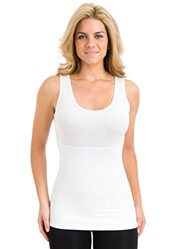 Teez-Her The Skinny Shaper Tank WHITE X Large