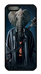 Covers Rocker Cooper Elephant Custom PC Hard Case Cover for iPhone 5/5S Black wangjiang maoyi