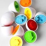 Eadear 6Pcs Kids Infant Toddler Simulation Eggs