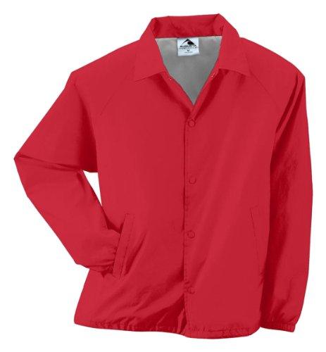 - Style 3100 Nylon Coach's Jacket (Lined) - Adult (medium, red)