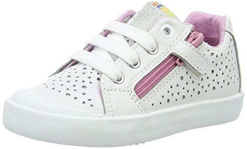 Geox B Kilwi Girl, Zapatillas para Bebés Blanco (White/Pink C0406)