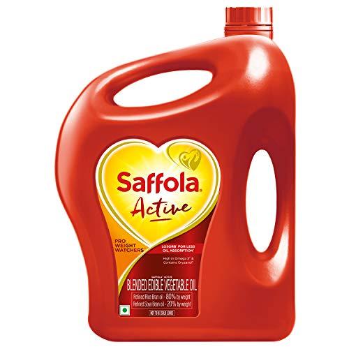 Saffola Active, Pro Weight Watchers Edible Oil, Jar, 5 L 1
