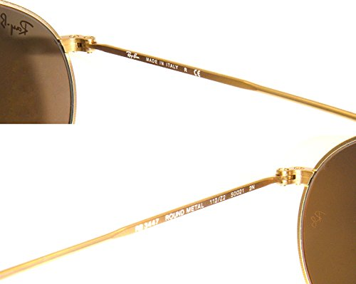 New Authentic Ray Ban Rb 3447 112 Z2 50mm Round Matte Gold