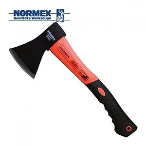 Normex Beil Axt 600g Haushaltsbeil mit Fiberglasstiel 600g