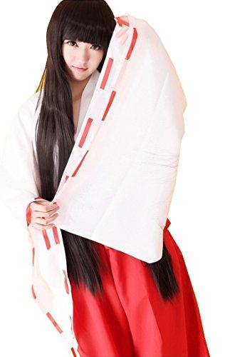 [CNS Inuyasha Kikyo Style Cosplay Costume [ M Size for Women ] Japanese Anime] (Miroku Cosplay Costume)