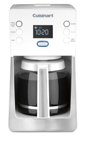 Cuisinart DCC-2800W Perfec Temp 14-Cup Programmable Coffeemaker, White (White Cuisinart Coffee Maker compare prices)