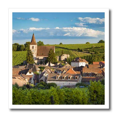 3dRose Danita Delimont - France - Town of Hunawihr Along The Wine Route, Alsace Haut-Rhin, France - 6x6 Iron on Heat Transfer for White Material (ht_313108_2)