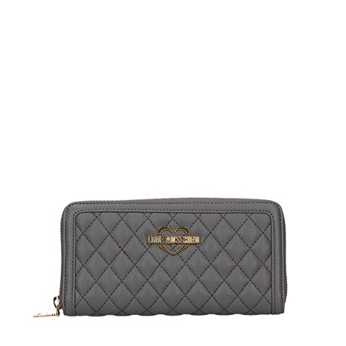 Love Moschino Superquilted wallet with zip grey