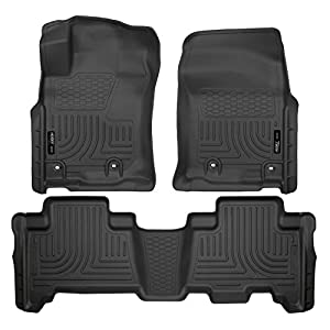 Husky Liners 99571 Black Weatherbeater Front & 2nd Seat Floor Liners Fits 2014-2019 Lexus GX460, 2013-2019 Toyota…