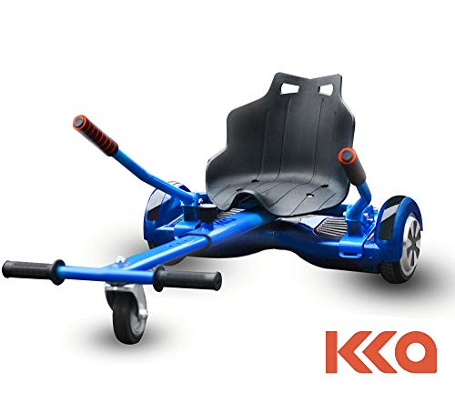 KKA Hoverboard Accessories, Hoverboard Seat Attachment Fits Self Balancing Scooter Go Cart Frame (Blue) (Hover Board Kit)
