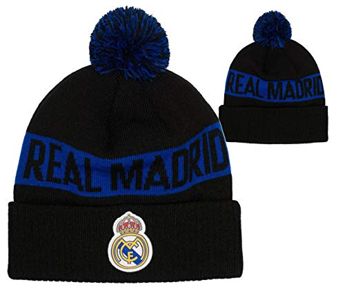 - Fi Collection Real Madrid Officially Licensed Intarsia Cuff Knit w/Pom Pom