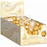 Lindt LINDOR White Chocolate Truffles, 60 Count Box