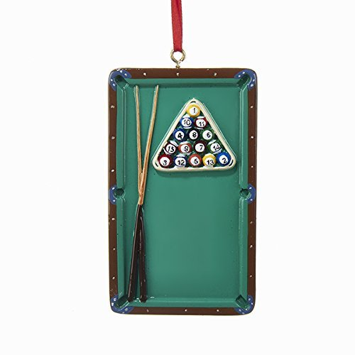 Kurt Adler Pool Table Pocket Billiards Christmas Tree Ornament Game Cue Sports W8210 New