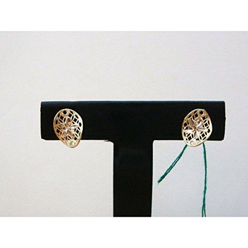 Damiata Bijoux-Boucles d'oreilles en or blanc et jaune 18 carats