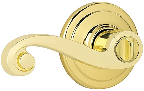Kwikset 730LL 3 CP Lido Bed/Bath Lever, Polished ()