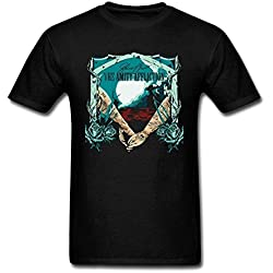 SUNRAIN Men's The Amity Affliction Band Tour 2016 Poster T Shirt
