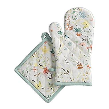 Maison d' Hermine Colmar 100% Cotton Set of Oven Mitt & Pot Holder