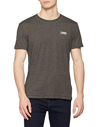 Tommy Jeans Jaspe Manches shirt forest Homme T Vert Modern Night 397 Courtes 1w1aqHrgn